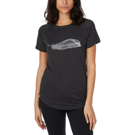 tentree Feather Wave Maglietta a maniche corte Donna, meteorite black heather